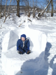 jakob's frist big snow strom