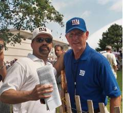 Meeting NY Giants Head Coach