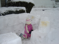 Building a Snow Castle
