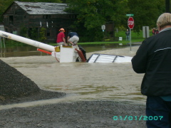 flooding  and high water in spencer ny..