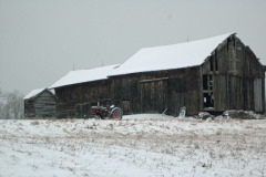 Melvin's Barn in winter- Cool Down!