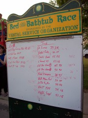 Vestal Festival times for tub and bed