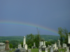 Rainbow over the cementary