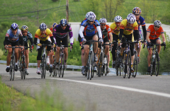 Weekly Cycling Races In Action
