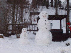 Mommy And Baby Snowmen