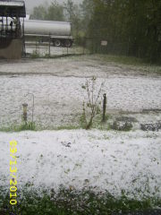 Hail Storm that hit New Milford PA