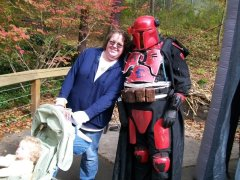 Star Wars characters at Boo at the Zoo