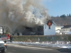 Owego house on Fire.