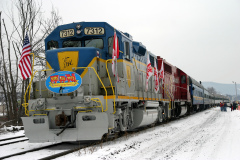 US Marine Corp. Reserve and Canadian Pacific Toys for Tots train today