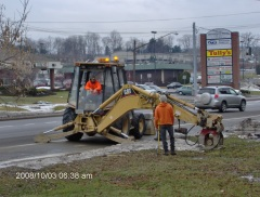 Parkway Water Main Break