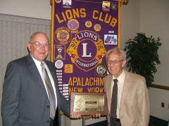 Apalachin Lions Club Lion of Year 2008