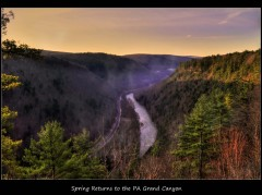Spring Sunrise at the PA Grand Canyon!