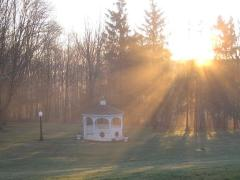 Gazebo at sunrise