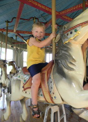 Summer Carousel Ride Brings Big Smile