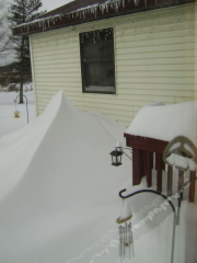 Front door snow drift