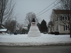 Biggest snowman I've ever seen!!