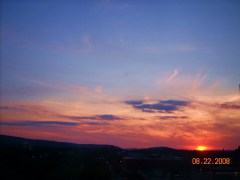 Beautiful sunset over Binghamton