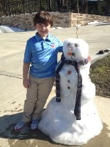 A Snowman in Spring!