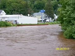 Delaware river during Irene