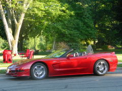 Owego, 3rd Fri. Art Walk Red Corvettes