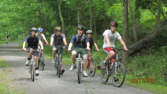 Scouts Bike the Pine Creek Trail