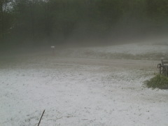 Franklin Hill Pa, hit hard with hail!