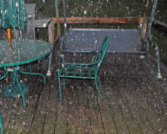 Hailstorm in Oxford, NY