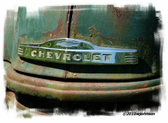 An old Chevrolet, just rustin away...