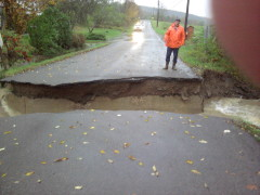 bridge washed out on tiona road in maine