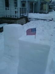 9/11 TRIBUTE IN SNOW.