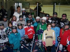 B.C. Barons players skate with Kids