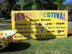 Vestal Festival and tub races June 6,200