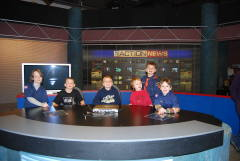 TIGER SCOUT PACK # 35 VISIT TO WBNG TV NEWS
