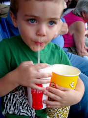Aidan at the BMets game