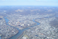 Flying over Binghamton Sunday Afternoon