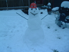 The construction worker snowman
