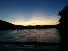 sunset over susquehanna river on 9/10