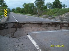 flood damage...Rt-7 in Afton