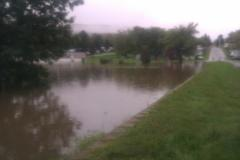 Flooding at Fountain Bleau