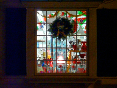 Holiday decorated windows