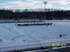 U-E Lacrosse teams finding field