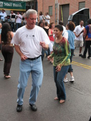 Mayor Matt Ryan joins in the Latin Fest