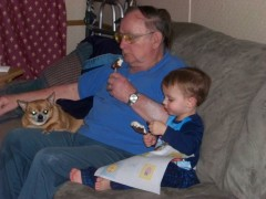 Aiden with great grandpa