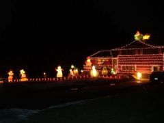 Christmas Lights on East Maine Rd
