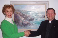 Marian Simpson donates painting