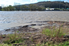 Debris-filled Chenango River