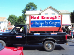 Campaign Truck at Strawberry festival.
