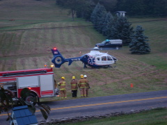 MedEvacs for Collision near Lawton, PA