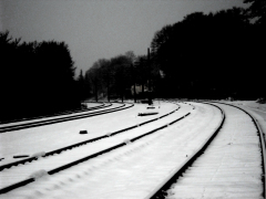 Snowfall on the tracks