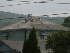 Lightning Hits Chimney in West Endicott